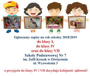 Zaproszenie Na Dni Otwarteszkoła Podstawowa Nr 7